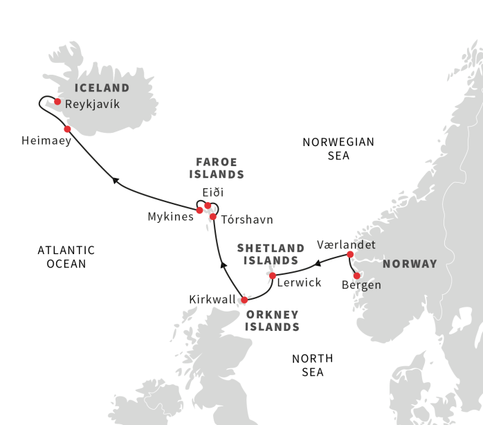 Hurtigruten Vikings Spitsbergen Map