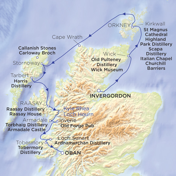 Hebridean Princess Map